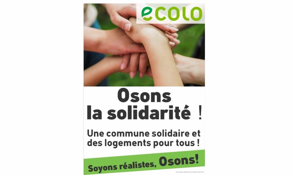 Une commune solidaire et des logements pour tous !
